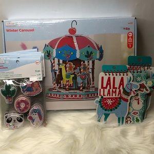 Llama Winter Carousel Kit  & Sticker Bundle